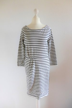 InWear Kleid Strickkleid weiß schwarz gestreift maritim Scandi Gr. S 36
