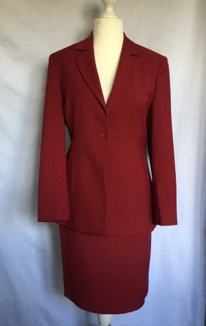 InWear Kostüm Gr.38 Rot roter rotes Blazer Rock Anzug Business Businesskostüm
