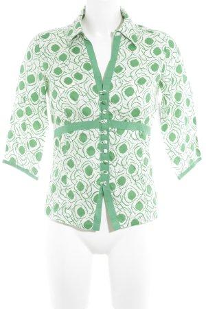 InWear Kurzarm-Bluse wollweiß-grün Casual-Look