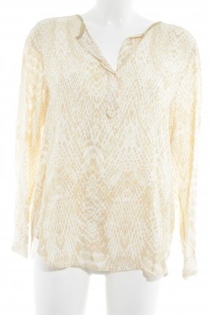 InWear Langarm-Bluse wollweiß-apricot Allover-Druck Casual-Look