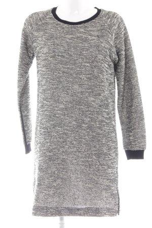 InWear Langarmkleid schwarz-weiß meliert Casual-Look