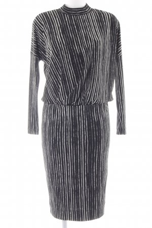 InWear Langarmkleid schwarz-weiß Streifenmuster Casual-Look