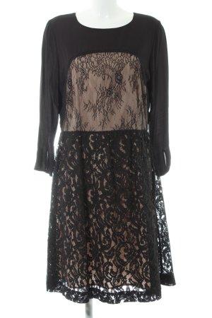 InWear Midi Dress black-nude floral pattern party style