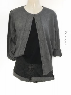 InWear NEU mit Etikett Cardigan Strickjacke Knit Jacke Jäckchen Trachten grau