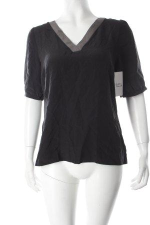 InWear Seidenbluse schwarz-khaki Paris-Look