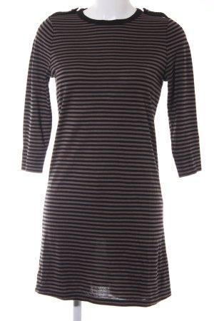 InWear Robe t-shirt gris brun-noir rayures horizontales style décontracté