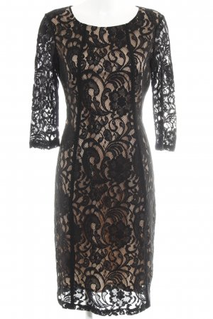 InWear Spitzenkleid schwarz-nude florales Muster Casual-Look
