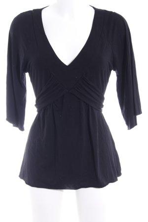 InWear V-Ausschnitt-Shirt schwarz Casual-Look