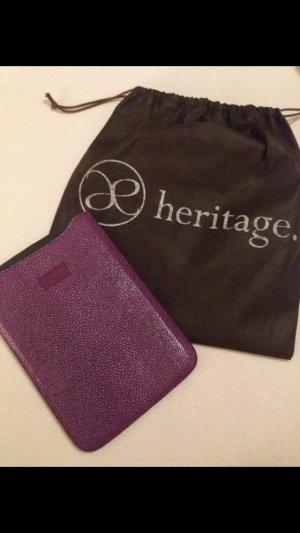 iPad Mini Case Rochenleder Echtleder violett neu