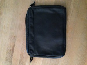 Laptop bag black leather