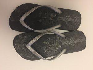 Ipanema Flip Flops schwarz-silber