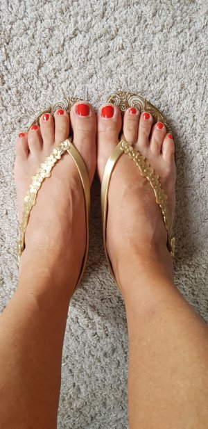 Ipanema High-Heeled Toe-Post Sandals gold-colored