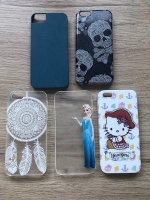 Hoesje voor mobiele telefoons wit-zwart