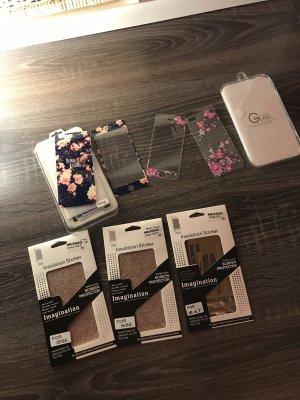 iPhone 6 Folien Glas Blumen Strass Glitzer neu