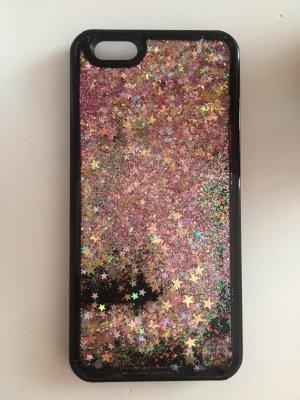 iPhone 6 Hülle Glitzer Sterne schwarz