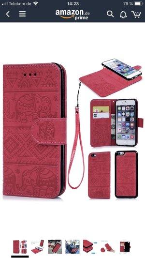 Genetic denim Étui pour téléphone portable rouge