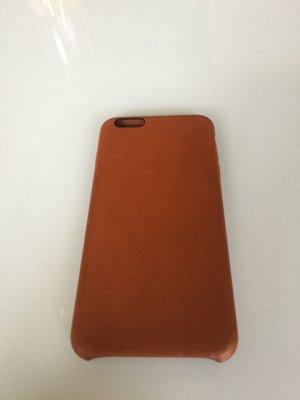 iPhone 6 Plus Leder Handyhülle Cognac