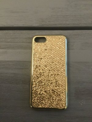 iPhone 7 Hülle , Gold Glitzer , Silikon, Neu