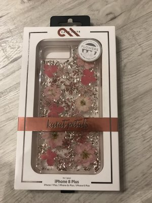 Mobile Phone Case silver-colored-neon pink