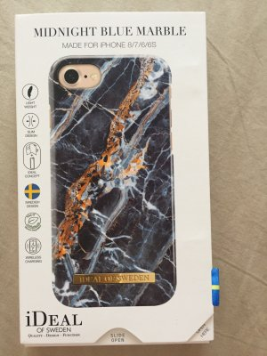 Ideal Mobile Phone Case blue-gold-colored