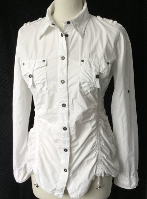 IQ+  34 36 XS vielseitige Bluse Jacke weiß, zu selten getragen