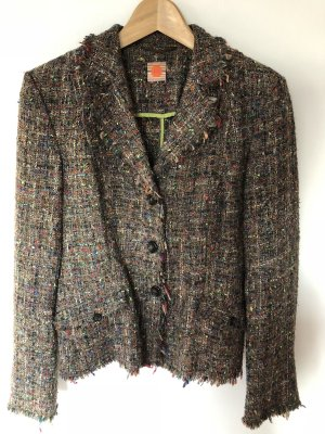 IQ women Wool Blazer light brown-neon green