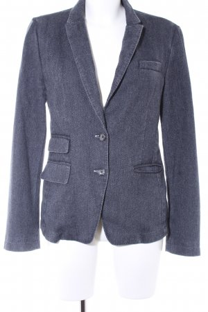 IQ+ Berlin Woll-Blazer dunkelblau-graublau Fischgrätmuster Brit-Look