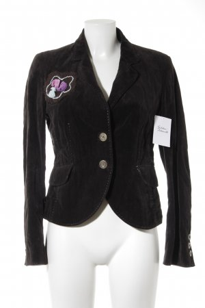 IQ women Blazer corto marrone scuro stile casual