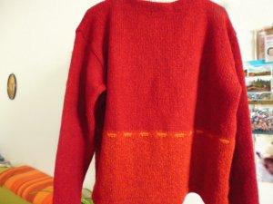 Jersey holgados naranja oscuro-rojo oscuro lana merina