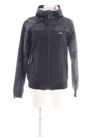 Iriedaily Veste à capuche noir-gris clair motif de fleur style athlétique