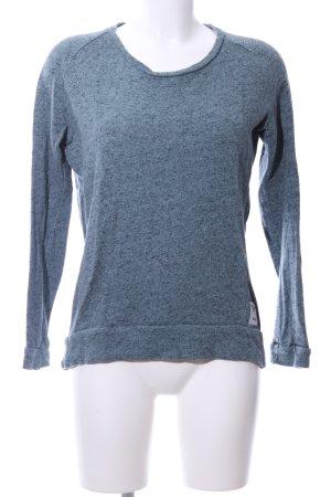 Iriedaily Rundhalspullover blau meliert Casual-Look