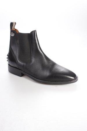 Iris Bayer Schlüpf-Stiefeletten schwarz klassischer Stil