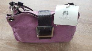 Handbag dark brown-mauve