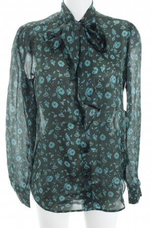 Iris & Ink Schluppen-Bluse florales Muster Business-Look