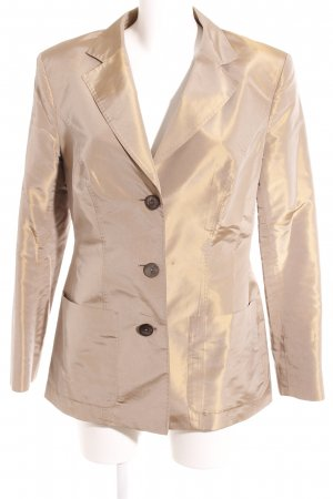 Iris von Arnim Long-Blazer beige Metallic-Optik