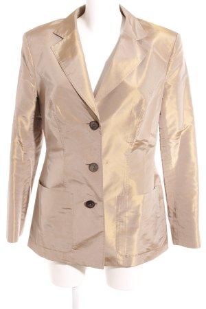 Iris von Arnim Long-Blazer beige Metallic-Optik