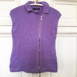 Iris von Arnim Luxus Label Weste Jacke Kaschmir Cashmere Flieder Pulli Pullover Zipper Reissverschluss