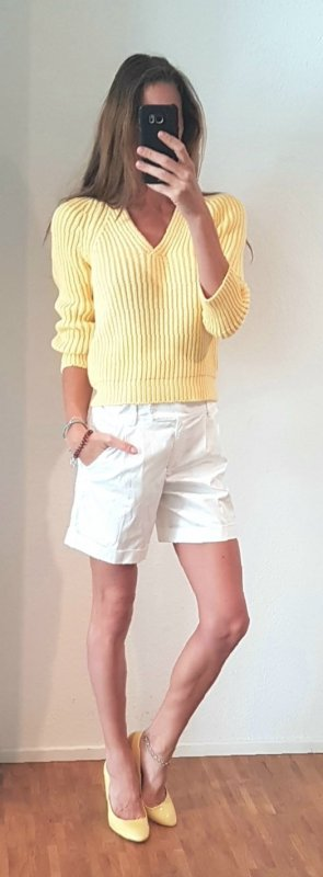 iris von arnim sommer Pullover hellgelb Ibiza chunky knit boho