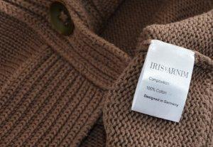 Iris von Arnim Veste en tricot marron clair coton