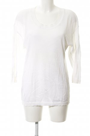 Iris von Arnim Jersey de lana blanco puro look casual