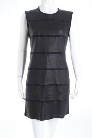 Iro A-Linien Kleid schwarz Leder-Optik