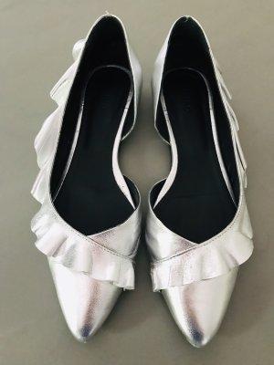 IRO Ballerina mit Rüschen in Silber 38
