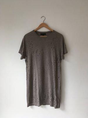 IRO Clay T-Shirt Shirt Longshirt Gr. S M NEU ungetragen khaki olive schlamm grau