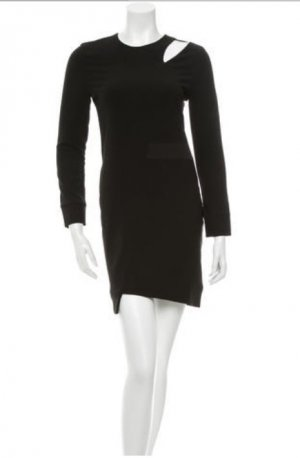 IRO Cocktail Kleid Schwarz Langarm 36 Cut Out Dress Black Long Sleeve S