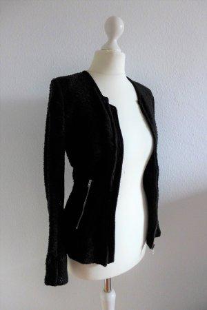 IRO Jacke Blazer Blouson Jacket Leder Amiya schwarz Gr. 34 (36) XS