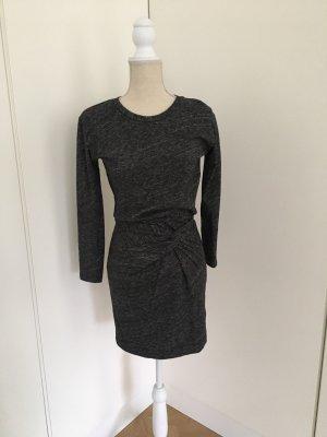Iro Vestido de tela de jersey gris antracita
