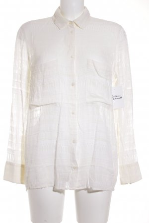 Iro Langarm-Bluse creme grafisches Muster Boho-Look