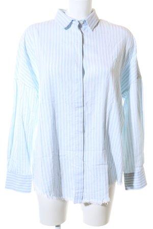 Iro Langarmhemd blau-weiß Streifenmuster Casual-Look