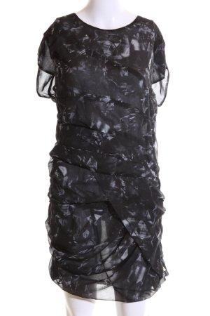 Iro Minikleid schwarz-weiß abstraktes Muster extravaganter Stil