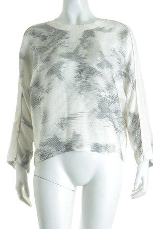 Iro Oversized Bluse abstrakter Druck Materialmix-Look